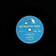 CLASSIC ELVIS PRESLEY 78  BLUE SUEDE SHOES / TUTTI FRUTTI  +sleeve HMV POP213 V+