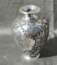 PERSIAN Isfahan solid silver VASE perse