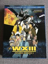 PATLABOR THE MOVIE 3 WXIII COMBO 1 BLURAY + 1 DVD + 1 DVD EXTRAS + LIBRO 16 PAG
