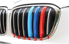 3pcs 3 Colors Front Grille Molding Cover Trim For BMW X1 F48 2016-2018 7 Grille