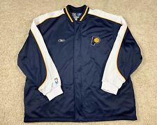 Indiana Pacers Authentic Reebok Warm Up Jacket Size 3XL