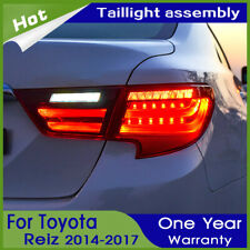 Car LED Taillights Assembly For Toyota Mark X Dark/Red LED Rear lights 2013-2017
