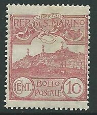1903 SAN MARINO VEDUTA 10 CENT MNH ** - M18-3