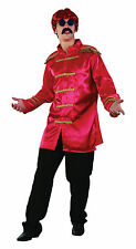 Mens Red Sergeant Pepper The Beetles Jacket 1960's Music Fancy Dress Costume