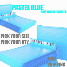Pastel Blue Poly Bubble Mailers Padded Envelope Protective Packaging Pouch Bags