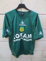 VINTAGE Maillot F.C NANTES LE COQ SPORTIF vert football collection away shirt M
