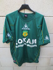 VINTAGE Maillot F.C NANTES LE COQ SPORTIF vert football collection away shirt M