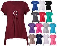 Damenblusen, - tops & -shirts aus Viskose mit Stretch Größe 48