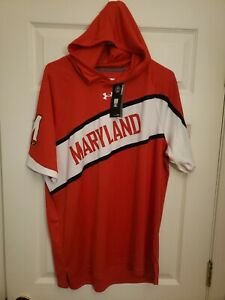 XL or 3XL Under Armour Maryland Terrapins Terps dri-fit Hooded Shooting Shirt