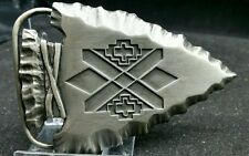 NEW Arrowhead Belt Buckle Southwest Design Pewter by Siskiyou Made in USA