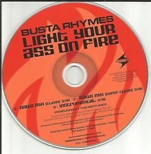 BUSTA RHYMES Light your Ass on Fire CLEAN TRX & INSTRUMENTAL PROMO DJ CD single