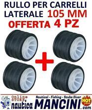 4 RULLI LATERALI RICAMBIO CARRELLO MM 105 BARCA GOMMONE RULLO LATERALE TRASPORTO