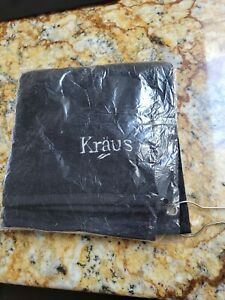 """Kraus Black Towel 15"""" x 16"""" with grommet and hanging ring"""