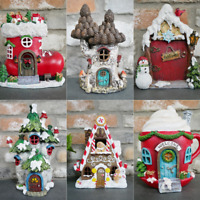 Adorable Fairy Village Resin Christmas Decorations