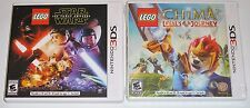 Nintendo 3DS Lot - LEGO Star Wars The Force Awakens (Used) LEGO Chima (New)
