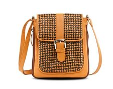 New Soft Genuine Knitted Woven Leather Cross Body Shoulder Bag