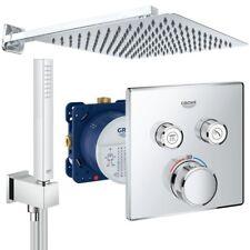 Unterputz Duschsystem mit Kopfbrause 300 x 300, Grohe Grohtherm SmartControl Set