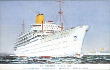 Postcard Shipping  Ocean Liners P&O line S.S Arcadia unposted