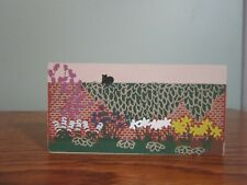 Brick Wall Garden Flowers Accessory Cat'S Meow Village Wood 1994 Retired