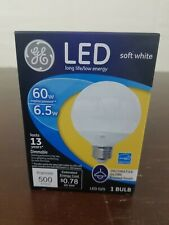 Light Bulb Decorative Globe Frosted Finish Soft Dimmable 500 Lumens LOT OF 2
