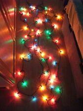 VINTAGE NOMA MULTI COLOUR CHRISTMAS FAIRY LIGHTS 50 BULBS with Shades RETRO