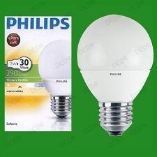 50x 7W Philips Cfl Redondo Pelota de Golf Es E27 Bombilla 2700k Lámpara de Globo