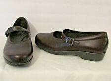 SAS Women's Maria Mary Jane Tripad Comfort Shoes Flats sz 8WW Soft Brown Leather