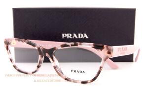Brand New Prada Eyeglass Frames PR 03WV ROJ Pink Havana For  Women Size 53