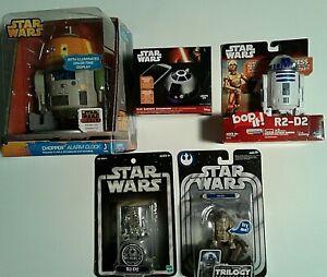Star Wars Collectibles.   6 Pcs Total. Sealed. Chopper Alarm, R2D2 Bop-It & MORE