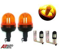 Set Di Allarme Lampeggiante Ambra Beacon & Supporto Trattore Agricolo Veicoli #D