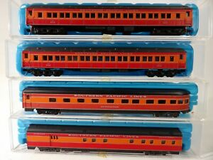 Unbranded N scale 4 car Southern Pacific Passenger set