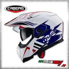 CASCO INTEGRALE CABERG XTRACE LUX WHITE BLUE RED COLORI AFRICA TWIN TAGLIA L