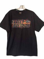 "Harley-Davidson Men's Short Sleeve Black ""Inferno"" flames shirt Medium"