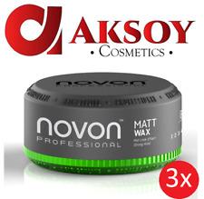3 x Novon Professional Matt Wax 150 ml - Haar Wachs matte look effect Styling