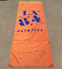 New listing Original 1984 La Olympics Banner/Flag Signed By Peter Ueberroth Rare 3' x 9'