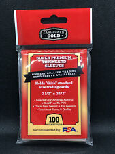Cardboard Gold Super Premium Thick Penny Sleeves for Thick Cards (100 Per Pack)