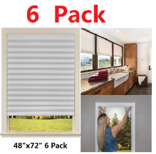 PAPER PLEATED SHADE-Window Blind Blackout Light Block Cordless-White-Free Ship