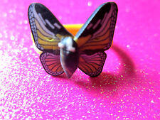 Plastic Butterfly Ring Size 6