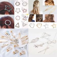 Chic Geometric Hollow Metal Hairpins Barrettes Hair Clip Hair Accessories Gifts