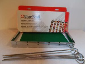 Char-Broil Kabot Skewers & Frame, Heavy Duty for Grilling/Barbeque, Chrome Plate