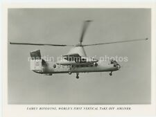 Fairey Rotodyne Helicopter Vertical Take Off Airliner Large Original Photo AZ432