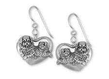 Tibetan Spaniel Earrings Handmade Sterling Silver Dog Jewelry Ts1-E