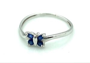 Magnificent Ring Gold 18 Gold - Butterfly IN Sapphires - 0.0342oz