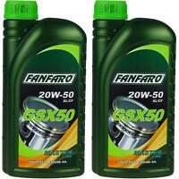 2x1 Liter Orignal FANFARO GSX 50 20W-50 API SL/CF Motoröl Engine Oil Öl