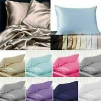 Pure Taie D'oreiller En Soie Mulberry Luxurious 6 Colors Home Literie