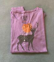 NWT Moutain Hard Wear Womens Deer Graph Long Sleeve T-shirt violet Multi Size