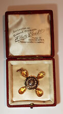 Victorian Topaz Pendant, Rock crystal, Pearls and Enamel, Set in Gold, est 8ct