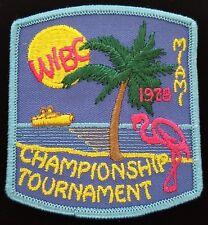 Vintage Bowling Patch 1978 Miami WIBC Championship Tournament
