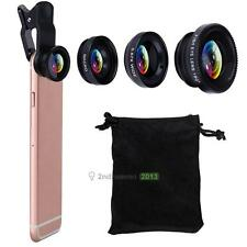 New Type 3 in1 Fish Eye+ Wide Angle + Macro Camera Clip-on Lens for Cell Phone