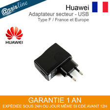 CHARGEUR ADAPTATEUR SECTEUR USB HUAWEI HW-050100E1W ORIGINAL PRISE MURAL FRANCE